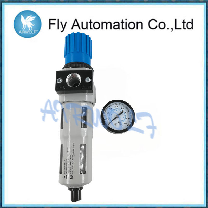 "Blue Silver Compressed Air Preparation 1/2"" Space Saving Aluminum Alloy Material"