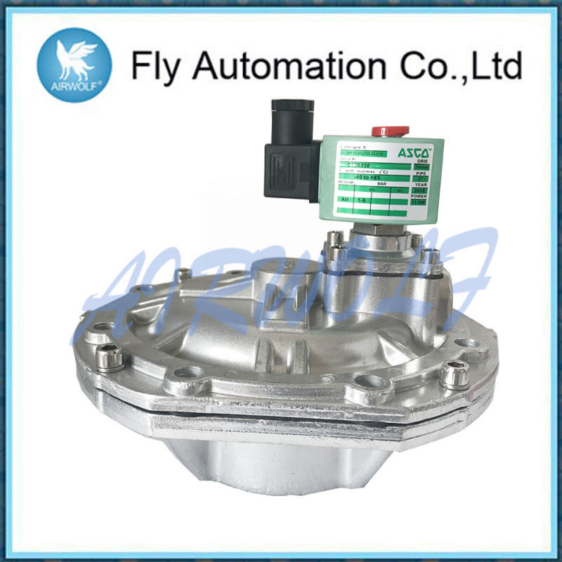High Flow Main Pulse Jet Valves ASCO 8353 Series 3 Inch Cartridge Aluminum Silver valve